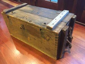 antique wwi large wooden ammunition box ebay