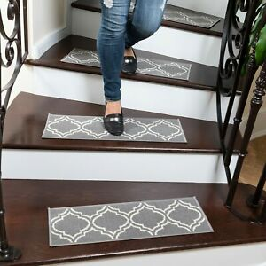 Ottohome Patterned Non Slip Pet Friendly Stair Treads Set