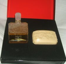 "Flacon ancien  Molinard ""Habanita"" dans son coffret Lalique parfum d'origine TBE"