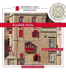 Malta-Euro-KMS-2018-Malteser-Kreuz-1-Cent-bis-2-Euro-Sondersatz-im-Folder