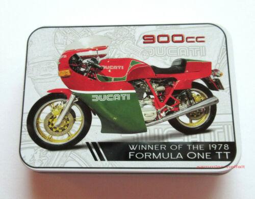 Blechdose DUCATI900 CC Allzweckdose Deko Motorrad NEU OVP Sammlerstück!!