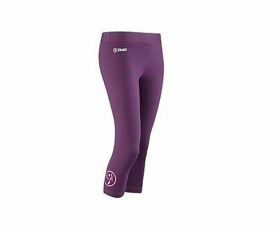 NWT Zumba Wear Craveworthy Capri leggings XL Soft Best legging Berry Nice Purple