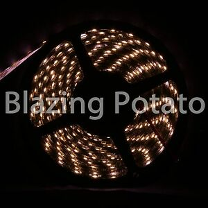 LumenWave-5M-3528-IP65-Waterproof-Flexible-LED-Strip-Lights-Black-PCB-WarmWhite
