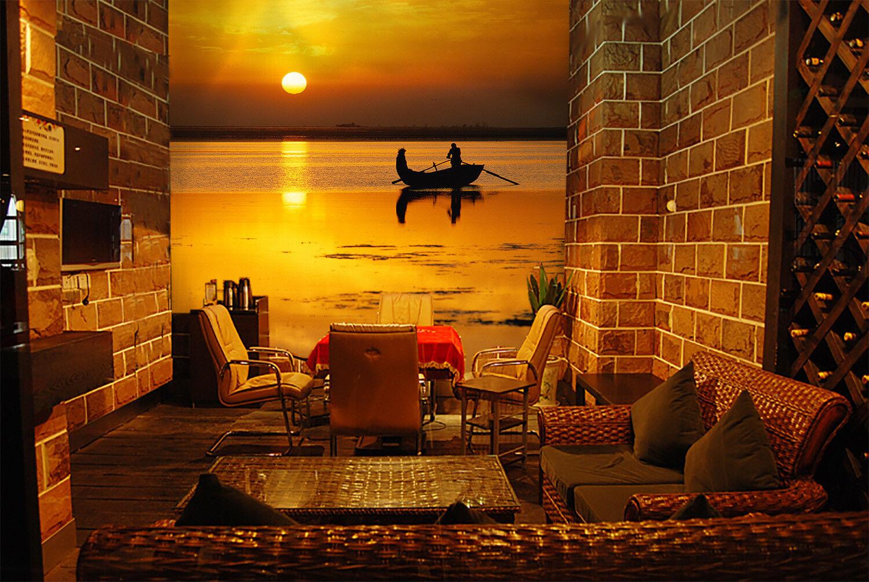 3D Ship Golden Sun 712 Wall Paper Murals Wall Print Wall Wallpaper Mural AU Kyra