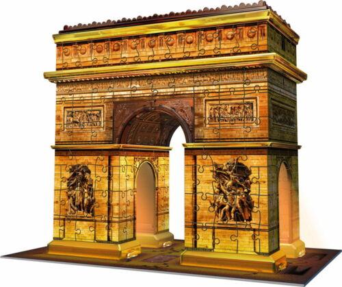 216 Teile Ravensburger 3D Puzzle Bauwerk Triumphbogen bei Nacht 12522