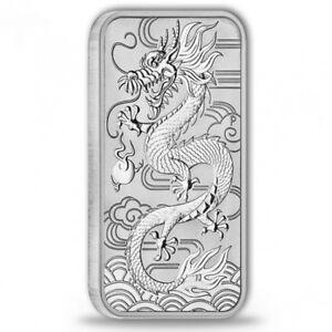 Silberbarren Drache Perth Mint 2018 1 Unze Silber silver bar dragon 1oz Barren