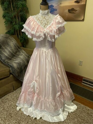 Vtg Gunne Sax Jessica McClintock Sleeveless Gown R