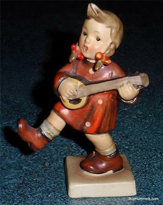 "Goebel Hummel Figurine ""Happiness"" TMK1 #86 Girl Playing Guitar US ZONE - RARE!"