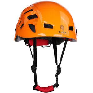 Rock-Climbing-Caving-Rescue-Safety-Helmet-Hard-Hat-Head-Protector-Orange
