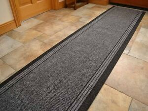 Charcoal Grey Heavy Duty Quality Non Slip Very Long Hall