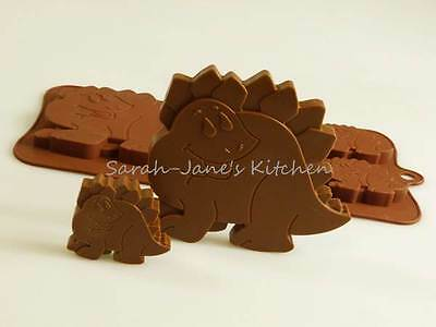 4+1 Dinosaur Chocolate Silicone Mould cake topper candy soap resin ice wax