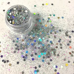Festival Chunky Glitter Body Art Cosmetic Party Make Up Mua Silver Tattoos Ebay