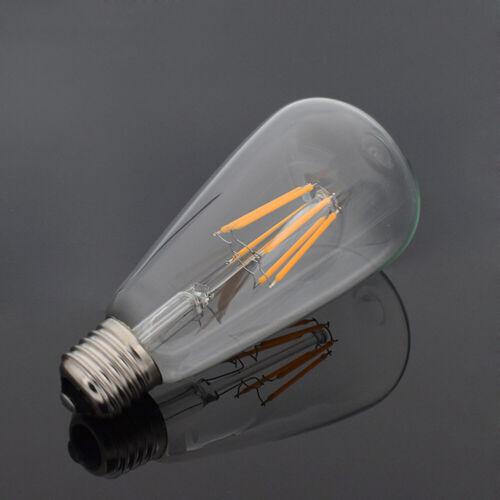 E27 4//8//16W Tsleen Retro Edison Filament LED Bulb Vintage Ball Light ST64 Lamp