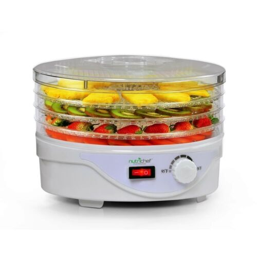 NEW NutriChef PKFD08 Electric Countertop Food Dehydrator  Food Preserver