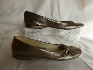 Image is loading DAVID-NIEPER-GOLD-LEATHER-SLIPPERS-PUMPS-UK-9- a8456d1fa