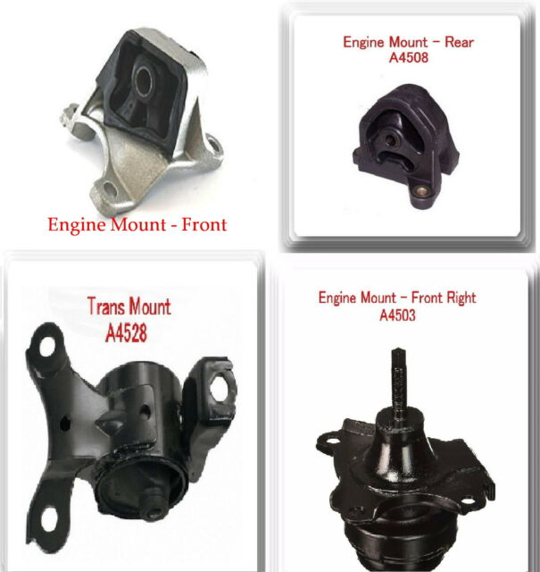 Kit Of 4 Pieces Engine & Trans Mount FOR 2002-2006 Acura