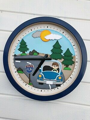 Boys Room Kids Travel Car Children Wall Clock Decorations Gift Free Delivery Ebay