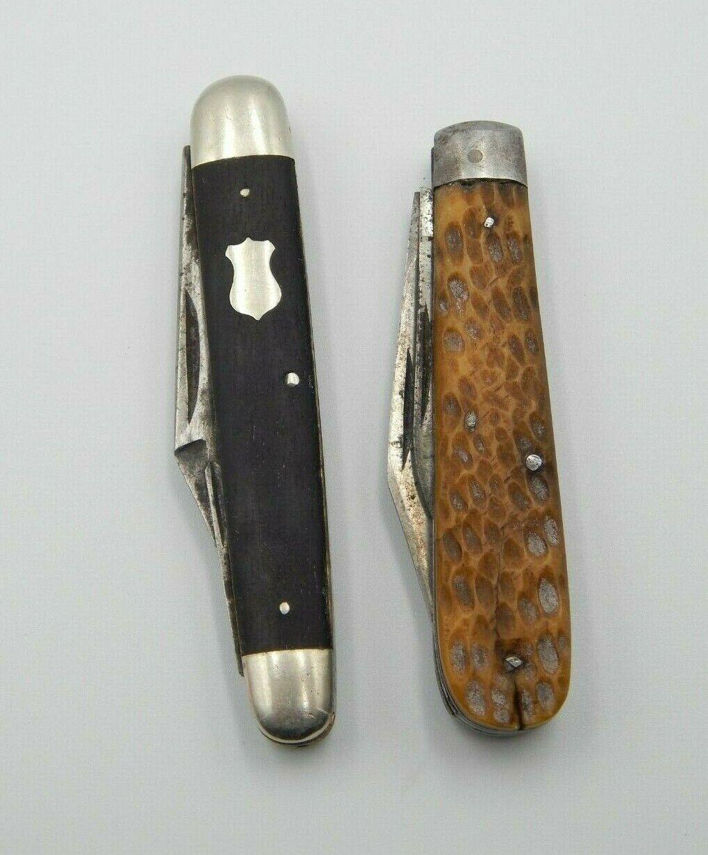 2 - Vintage Hibbard Spencer & Bartlett Co. OVB Pocket Knife 2 & 3 Blade (BT172)