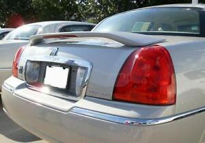 Fits 03 07 Lincoln Town Car Custom Spoiler Wing Primer Un Painted