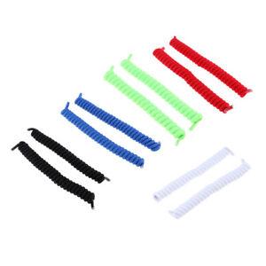 5-paires-de-lacets-elastiques-sans-torsion-Twist-Couleurs-unies-Taille
