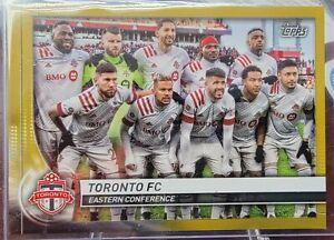 Topps MLS 2020 Toronto FC Team Card Gold Parallel 23/50 !!