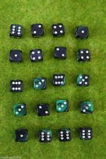 20 x 12mm DICE green Oblivion