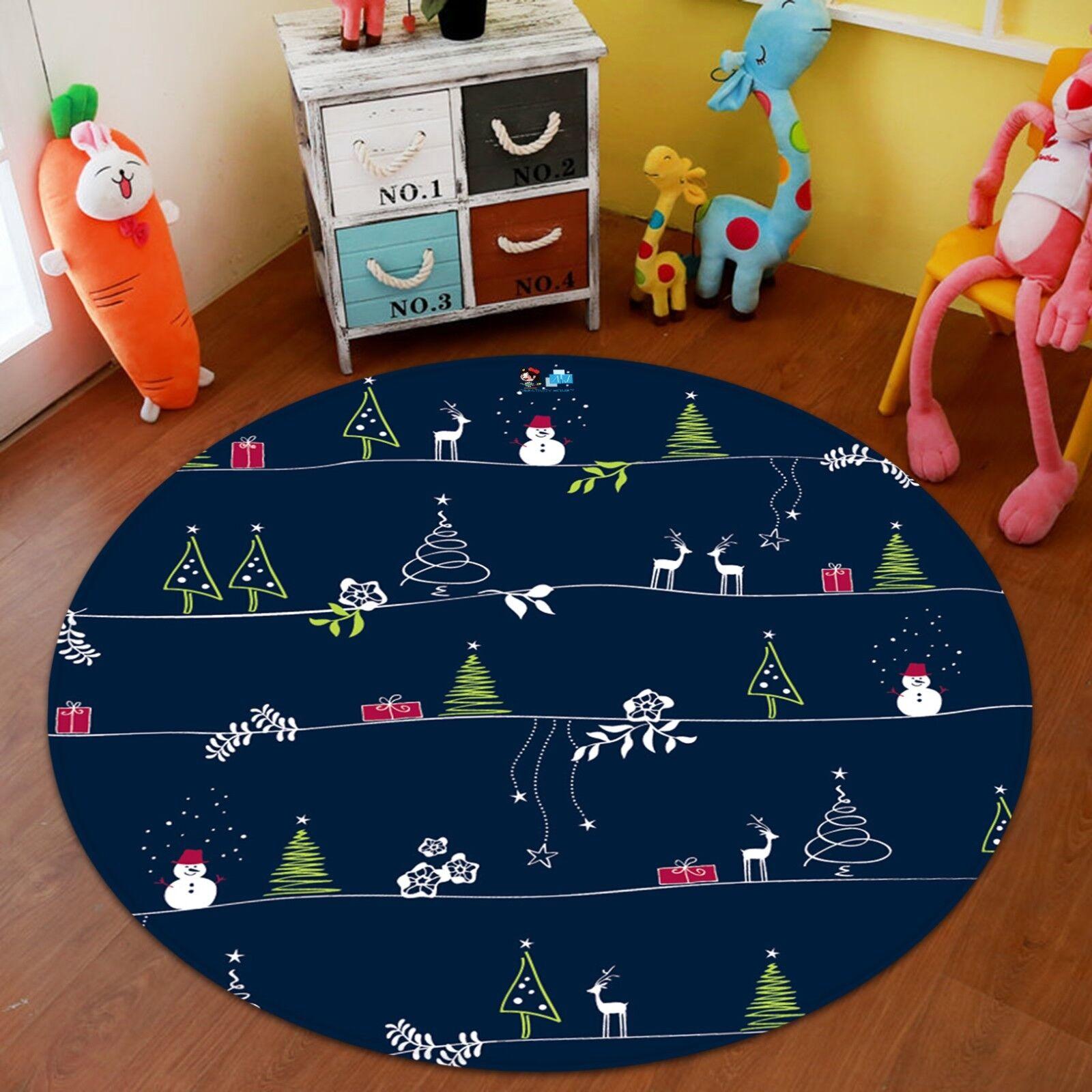 3D Navidad Navidad 631 Alfombra Colchoneta Mat Antideslizante rojoondo Calidad Elegante Foto Alfombra