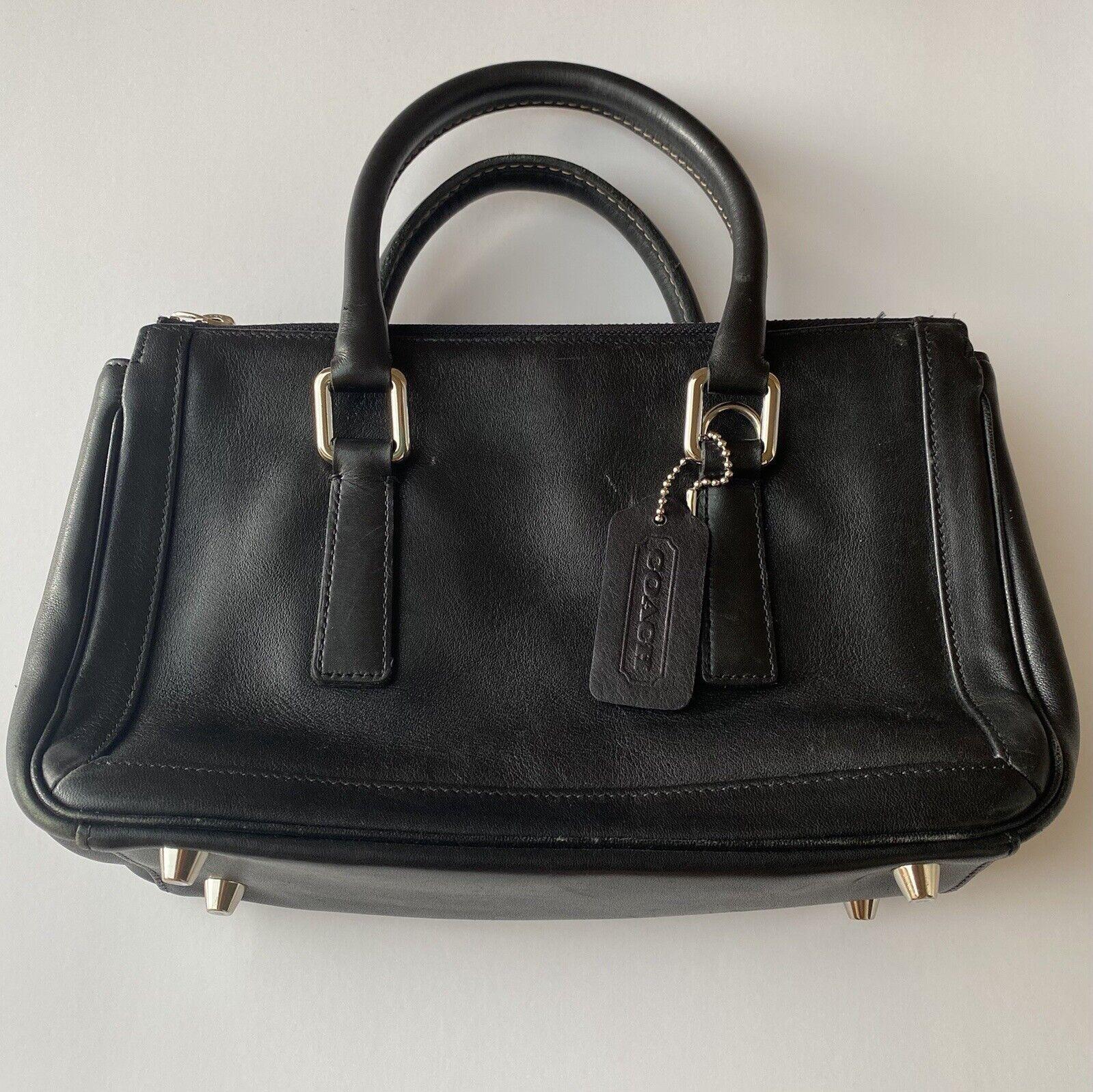 coach bonnie vintage black leather handbag  - image 1