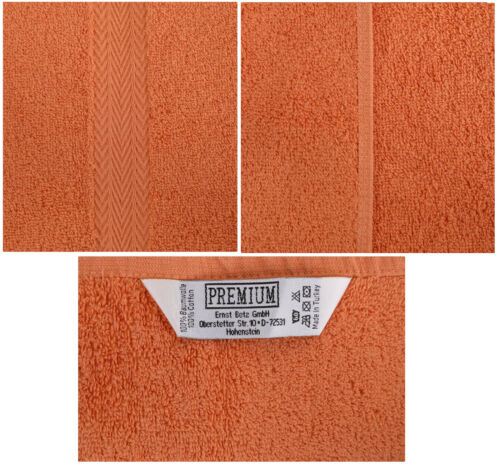 Betz 10 Stück Gästehandtücher Gästetuch PREMIUM 30x50cm apfelgrün /& orange