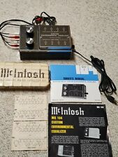 McIntosh MQ104 Equalizer with Manual book & McIntosh Capacitor Kit -Bundle