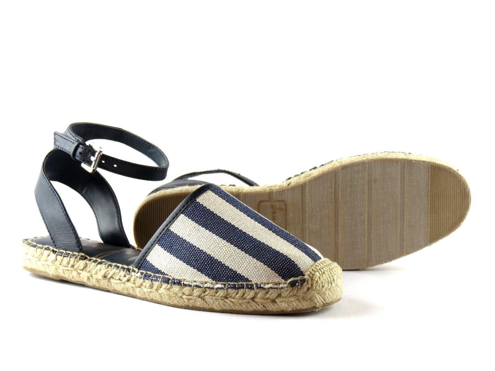 Sam Edelman Vivian Navy Espadrille Weiß Stripe Ankle Strap Espadrille Navy Sandale NEW Größe 8 2114a6