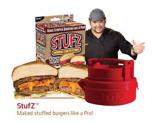 Stufz-Stuffed-Burger-Press-Hamburger-Patty-Maker-Juicy-BBQ-Grill-As-Seen-On-TV