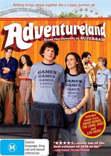 1 of 1 - Adventureland (2009) Jesse Eisenberg, Kristen Stewart - NEW DVD - Region 4