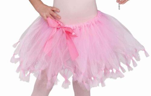 Girls Pink Princess Tutu Costume Ballerina Petticoat Fancy Dress Child Kids NEW