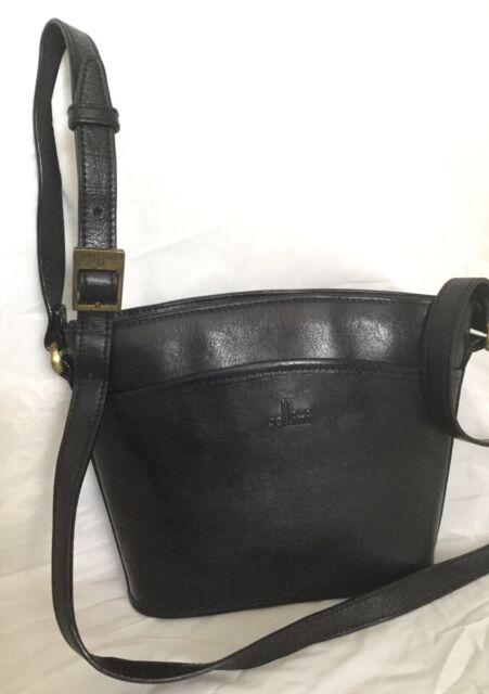 CELLINI Black Buffalo Leather Cross Body/Shoulder Bag / Handbag