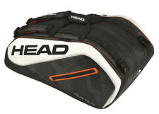 HEAD Tour Team 12r Monstercombi Tennis Racquet Racket Bag - Black/white- Reg