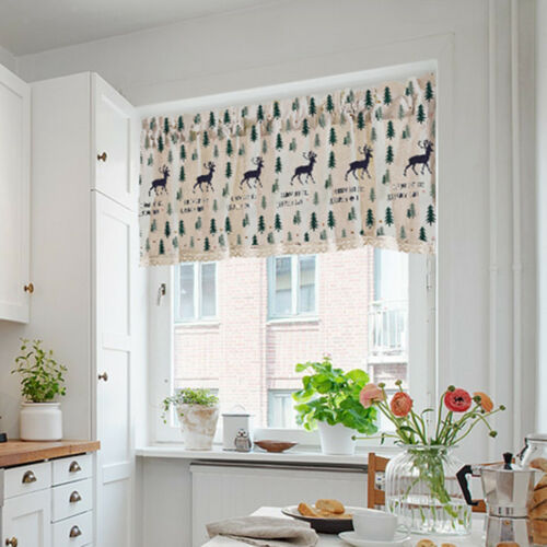 74x91cm Cafe Fenstervorhang Halbtransparenter Küchenvorhang Tier Elk