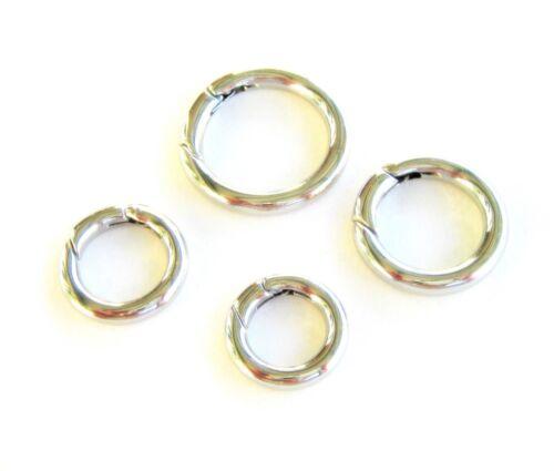 Edelstahl Karabiner Ring Donut rund Kettenverkürzer 15//18//20//24//28mm 1//10 Stück