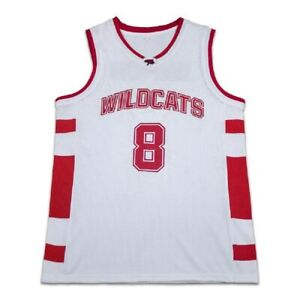 Details about Chad Danforth 8 East High School Wildcats White Basketball Jersey Free Shipping