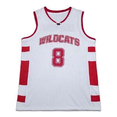 Chad Danforth 8 East High School Wildcats White Basketball Jersey Free Shipping   eBay