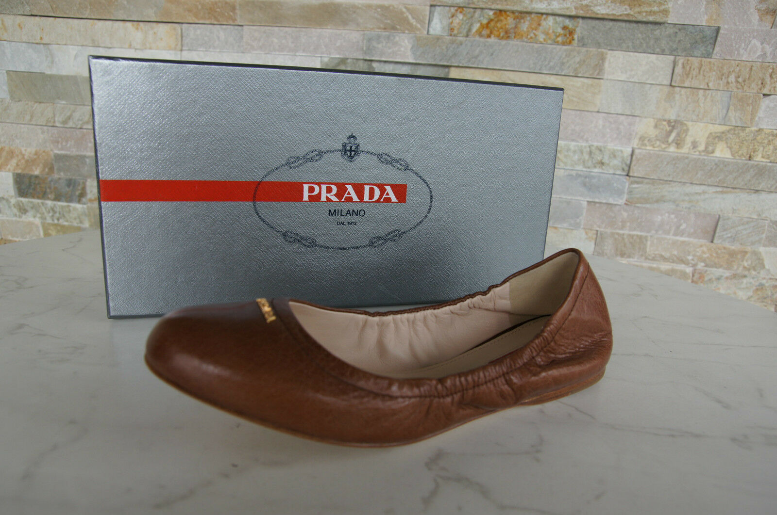 Prada Size 36 Ballerinas Slip on shoes shoes 3F5659 pinkwood New Previously