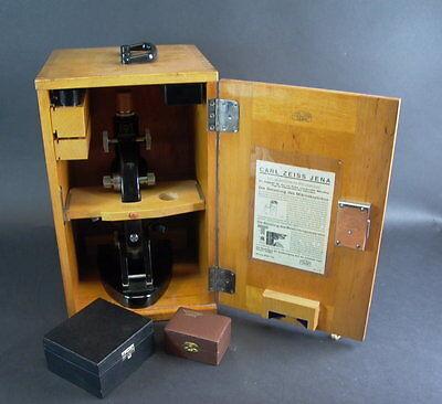 -Mikroskop CARL ZEISS JENA mit Zubehör