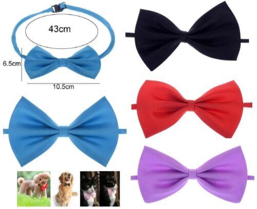 Bow Tie Dog Cat Adjustable Necktie Collar UK Bowtie Pet Accessories