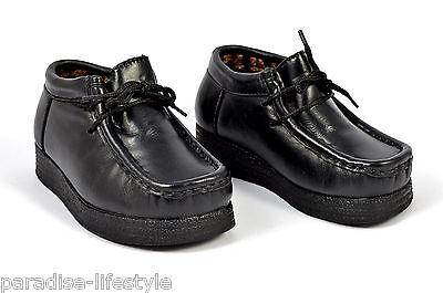 Boys Size 6 8 9 10 Infants Ankle Boot Shoe Lace Up Black School Smart Casual