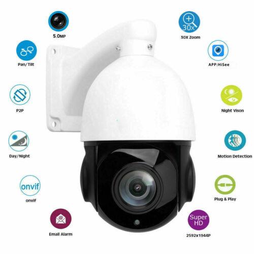 5MP 30X Zoom HD Außen PTZ IP Speed Dome Kamera Nachtsicht Überwachungskamera