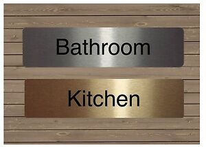 Bathroom Signs Gym house or office door signs in silver, gold or white: bathroom