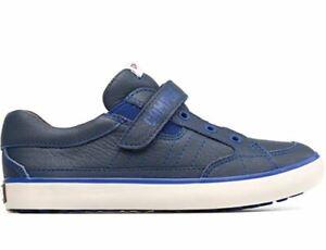 Camper Navy Lace-up Side Zipper Sneaker size 9 us little kid size 25 EU 80535