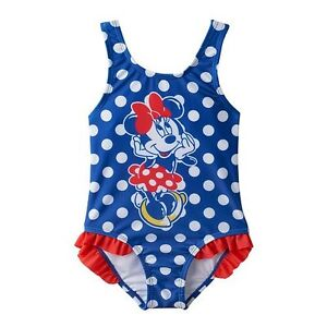 36bde3d1b8dff Toddler Girls 2T-4T Disney Minnie Mouse Navy Blue Red White Dot ...