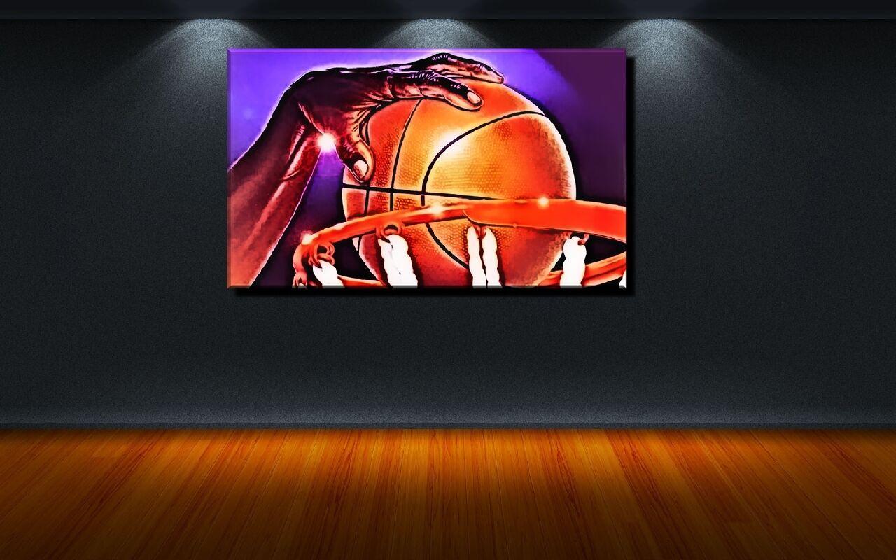 LEINWAND BILD ER XXL POP ART BASKETBALL USA NBA ABSTRAKT BUNT UND S W BIS 150x90