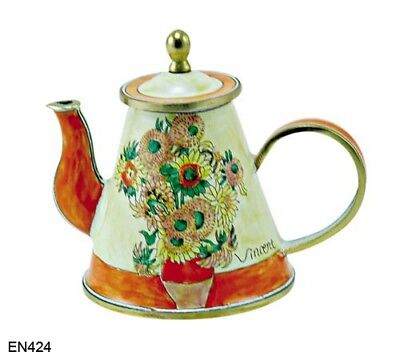 Cheap Price Kelvin Chen Enamel Mini Copper Handpainted Teapot Other Decorative Collectibles Sunflower By Van Gogh With The Most Up-To-Date Equipment And Techniques Collectibles